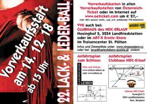 Lack & Leder Ball @ Schloss Leiben